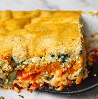 Vegan Autumn Lasagna with Tofu Ricotta & Pumpkin Cashew Cream