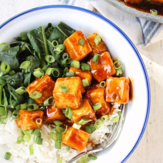 Sticky Maple Soy Tofu