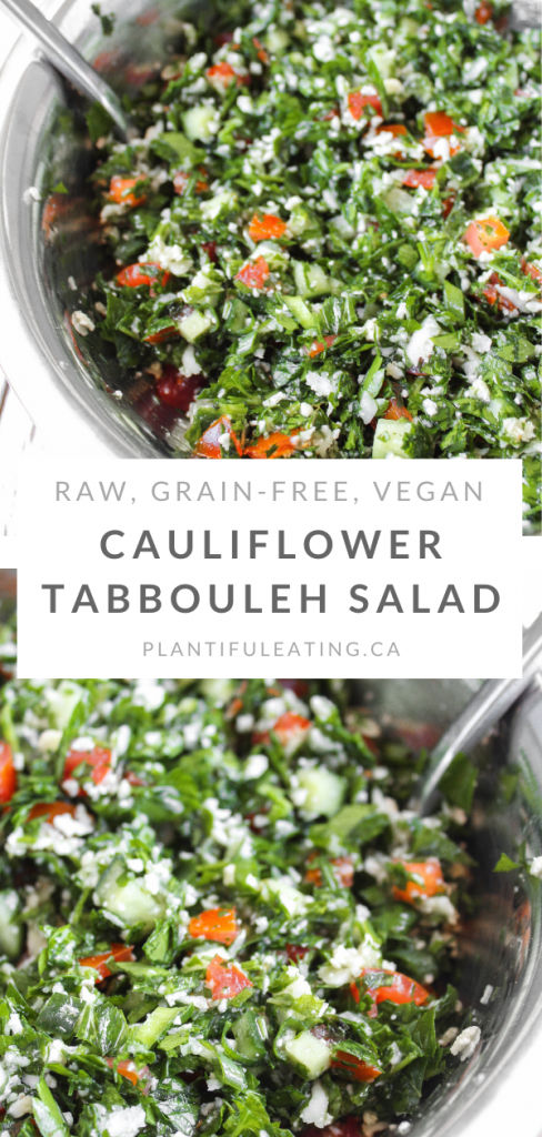 Cauliflower Tabbouleh Salad Pin